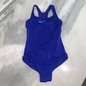 Nike Blue Swimsuit Swimming Bathing Suit One Piece